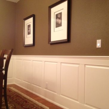 Raised Panelled Wainscoting