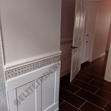 Tile and Wainscoting a Lovely Combination