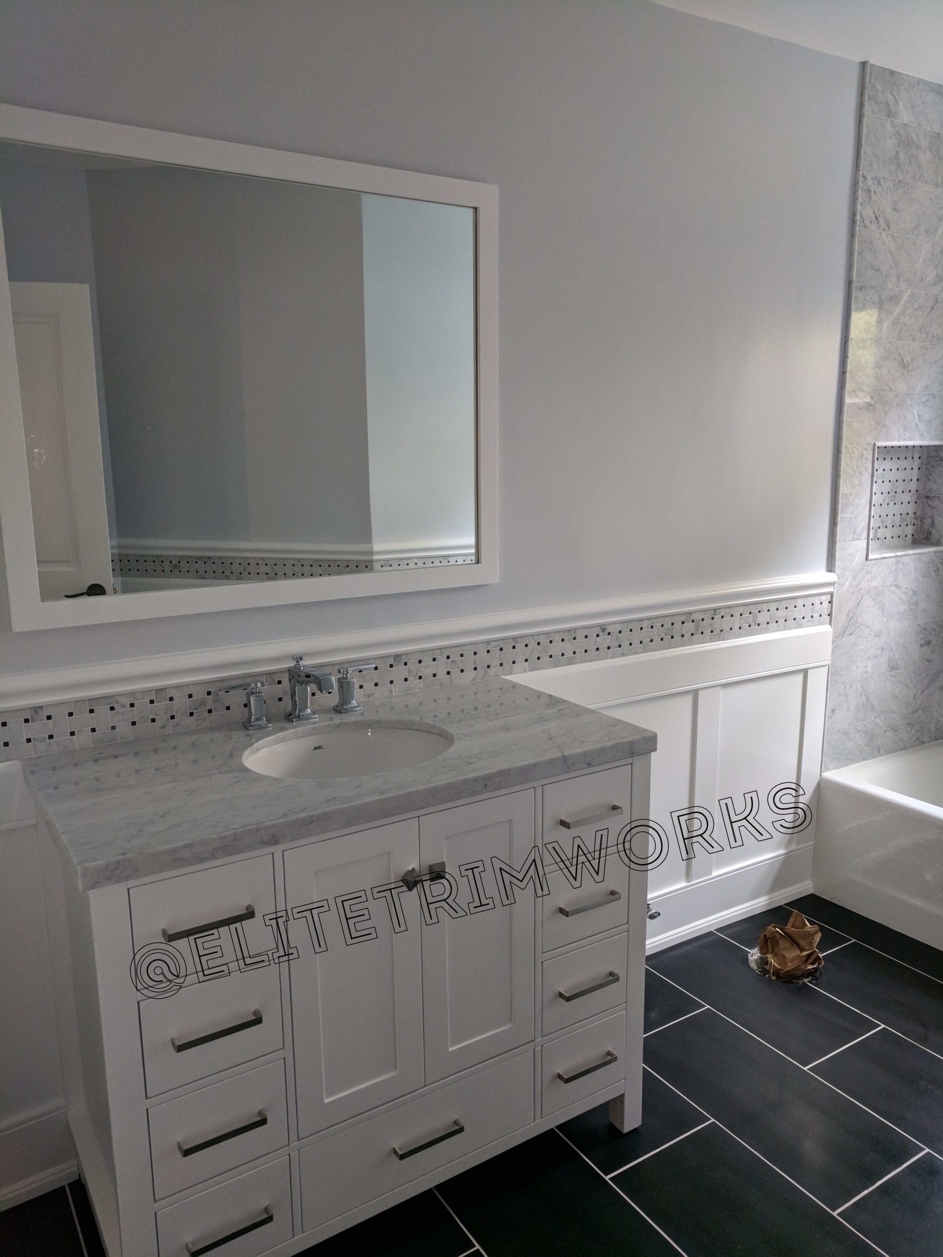 tile and wainscoting a lovely combination  elite
