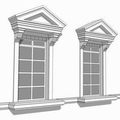 Door pediments pvc i elite trimworks - Decorative exterior door pediments ...