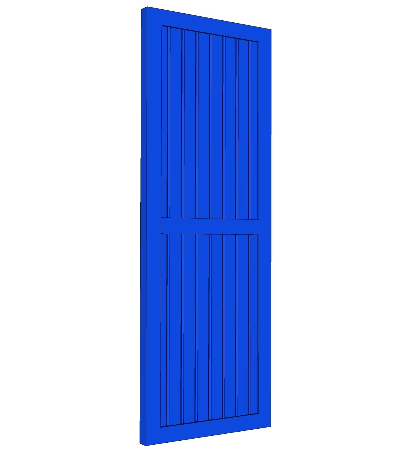Framed Board & Batten Shutter - PVC (Pair)