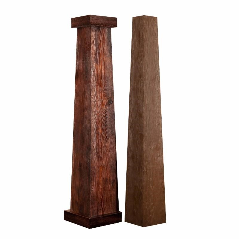 "12/8 Fiberglass, Craftsman Rough Sawn Column 66"" High"