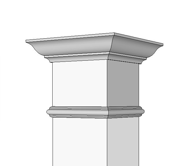 "12"" Extension for Square Column"