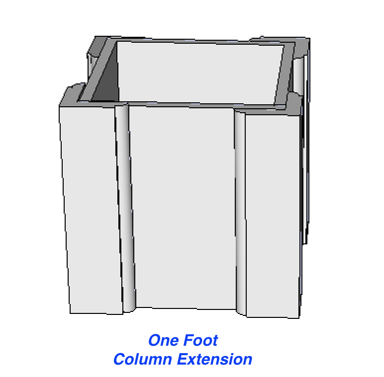Top Extension for Recessed PVC Column