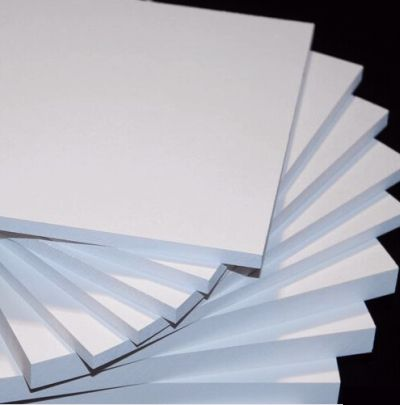 "⅜"" Cellular PVC Sheet, White Smooth Both Sides"