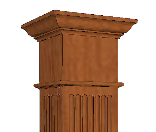 Square Fluted HARDWOOD Column