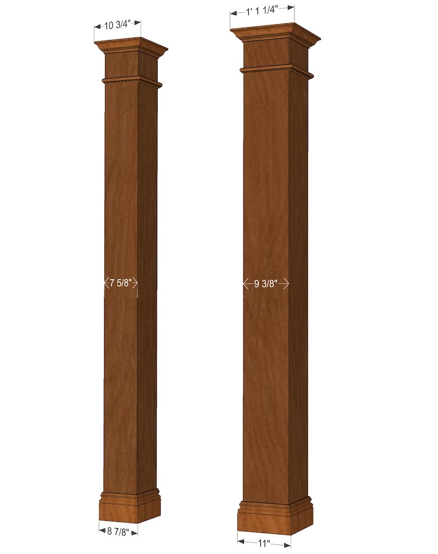 Square Column Trim : Square hardwood column i elite trimworks