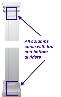 Middle Divider -for Fiberglass Cloumn