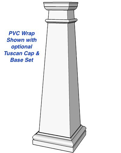 Tapered Shaker Pvc Column Wrap Or Post Cover I Elite Trimworks