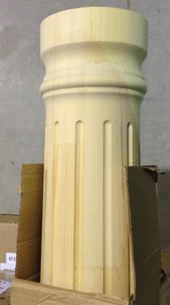 Round Wood Columns : Round column poplar i elite trimworks