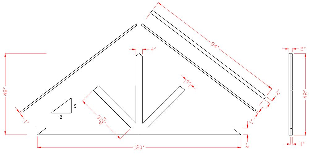 Gable Post Bracket 10ft
