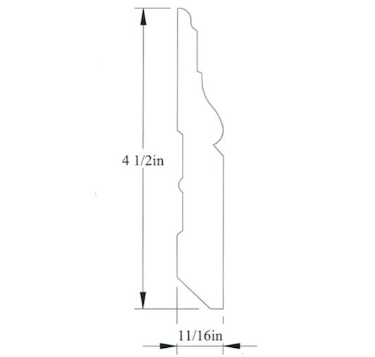 "Flexible 4-1/2"" Baseboard - Fairbank #227"