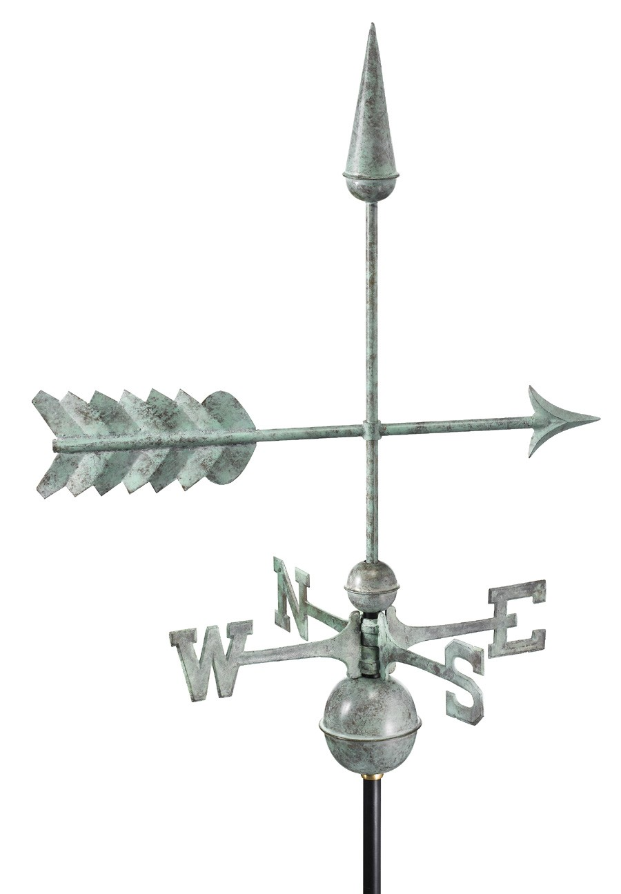 "23"" Blue Verde Copper Arrow Weathervane (Figure Only)"