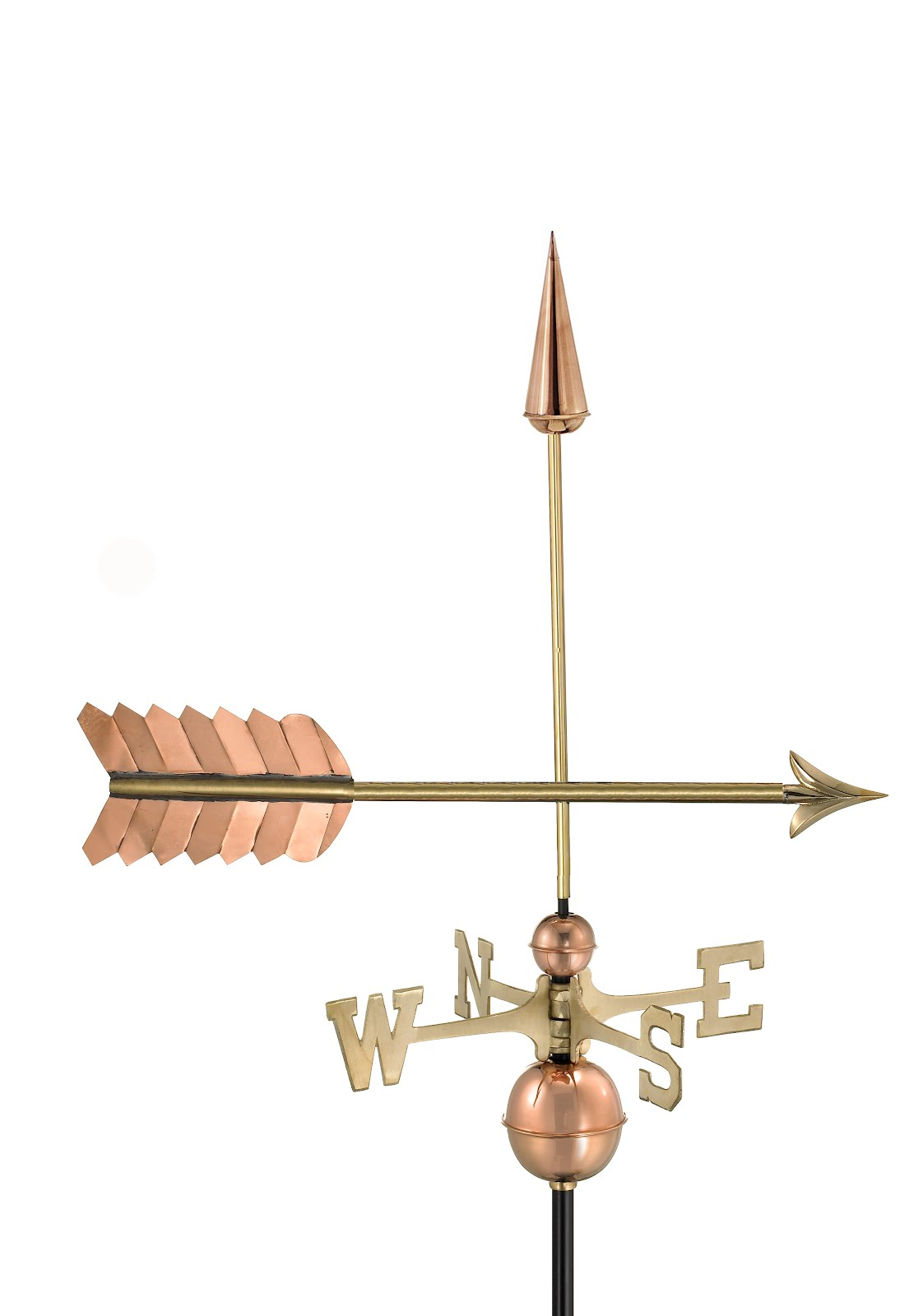"23"" Polished Copper Arrow Weathervane"