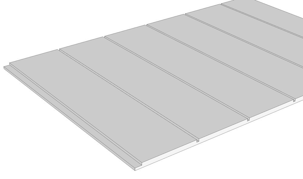 "Nickel Gap PVC Sheet ½"" thick"