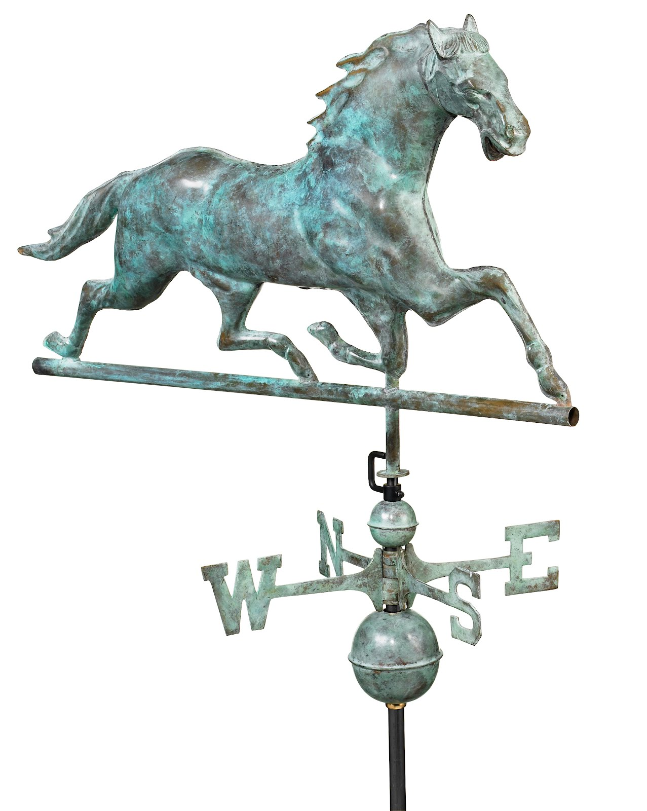 "33"" Blue Verde Copper Horse Weathervane (Figure Only)"