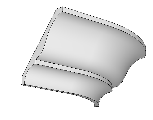 "Any 3"" Flexible Smooth Cornice (per foot)"