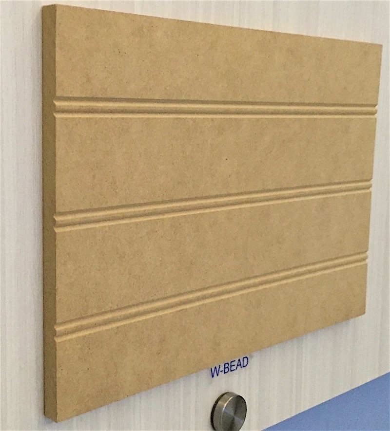 W-Bead Sheet in Raw MDF