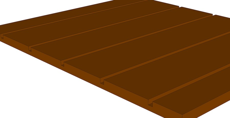 Channel Bead Sheet in Raw MDF