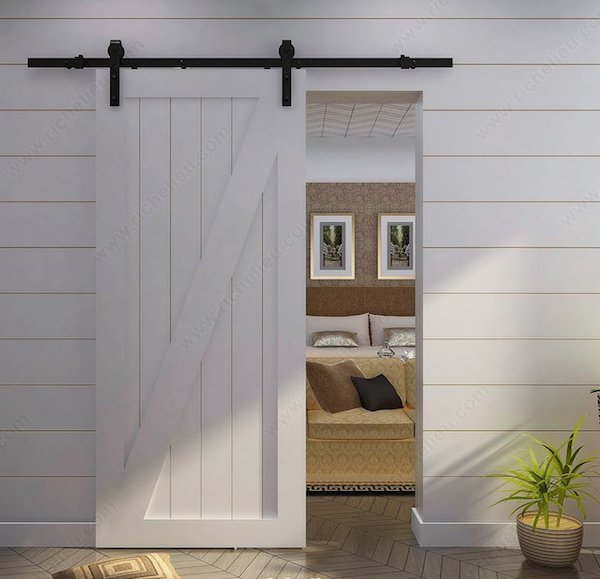Rustic Sliding Barndoor Set