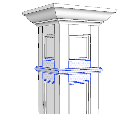 12 extension for recessed paneled column i elite trimworks for Mdf square columns