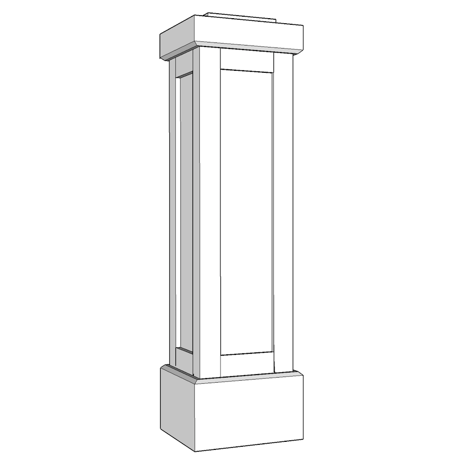 PVC Shaker Panel Newel Post