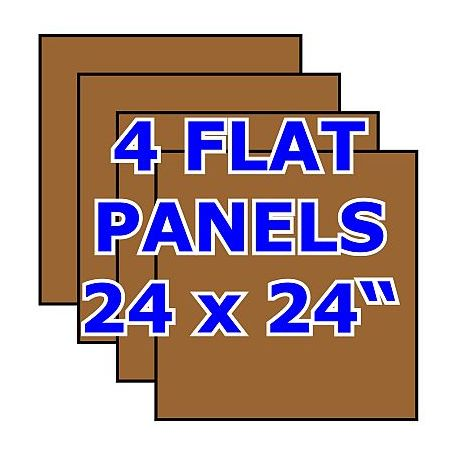 Pack of 4 Hardwood Flat Panels  -- no stiles