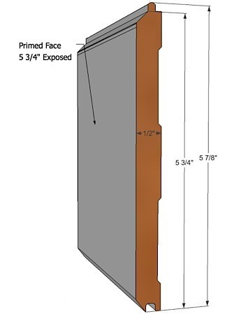 "6"" V-Groove Plank - Tongue and Groove"