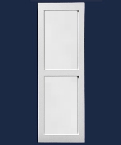 Contractor FLAT Paneled Shutters -  PVC  (Pair)