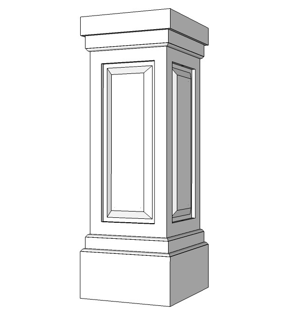 "14"" Raised Panel PVC Pedestal"