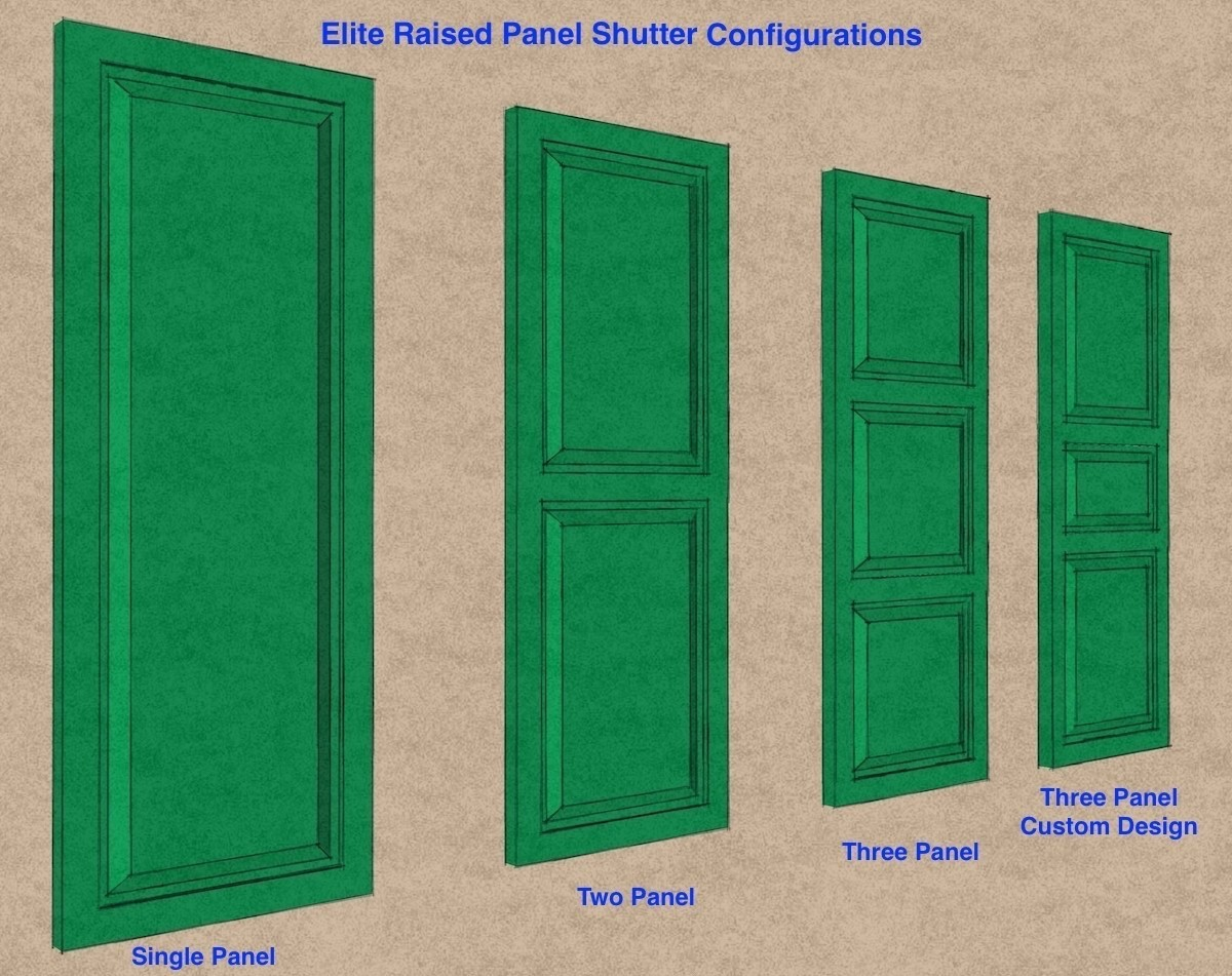 Premier Raised Paneled Shutters -  PVC  (Pair)