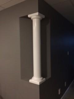 6 round wood tapered column i elite trimworks for Mdf square columns
