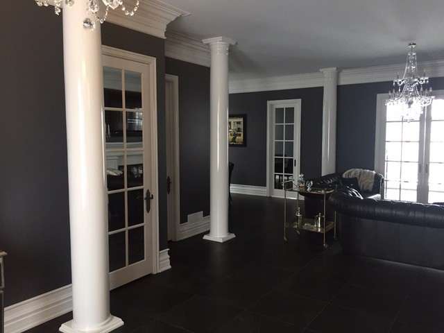 8 round wood tapered column i elite trimworks for How to build decorative columns