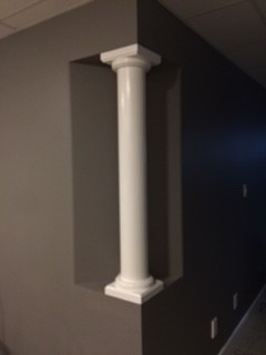 Round, Smooth, Wood, Non-Tapered Column 6""