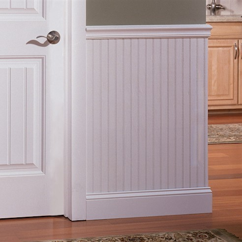 White Beadboard Sheet 4 X 8 3 16 In A Paintable