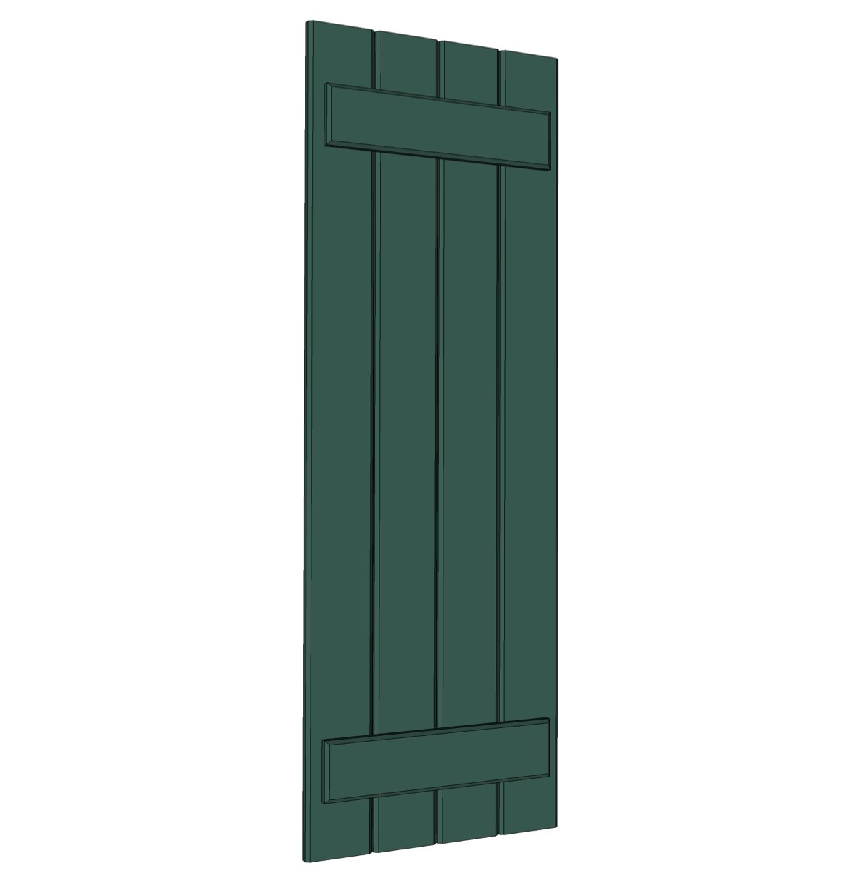 Premier Board n Batten Shutters - PVC (Pair)