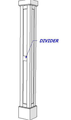 Divider for Shaker Paneled Column