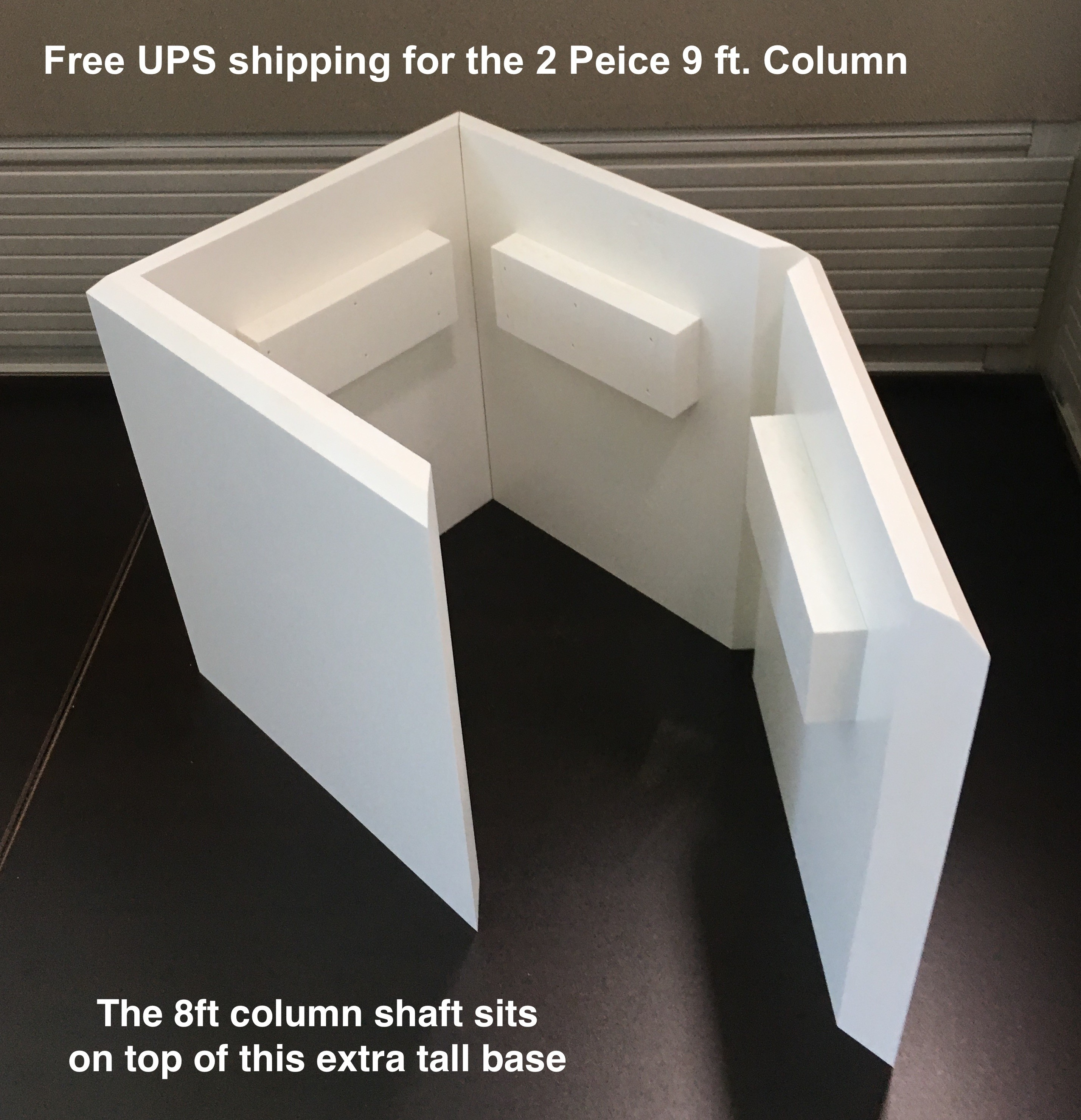 "10"" RECESSED PVC Column Wrap Kit"