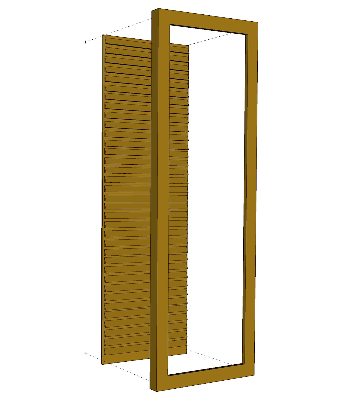 Faux Louvered Shutter - PVC (Pair)