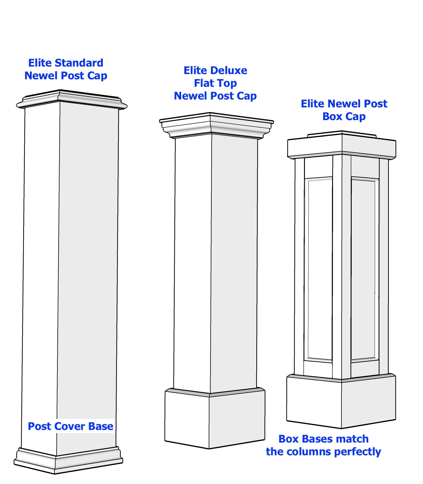 Flat Top Newel Post Capital
