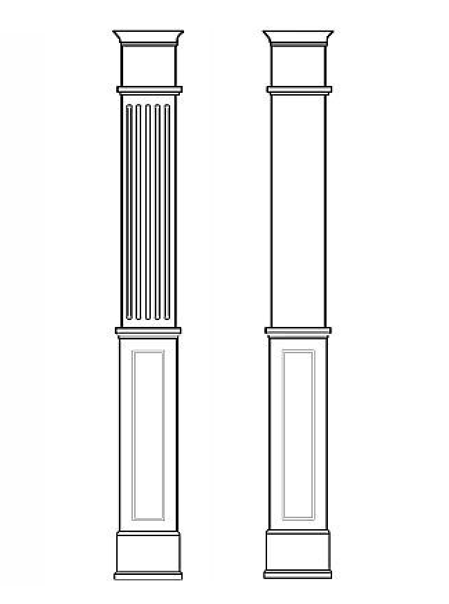 "8"" Recessed Wall Paneled Pilaster"
