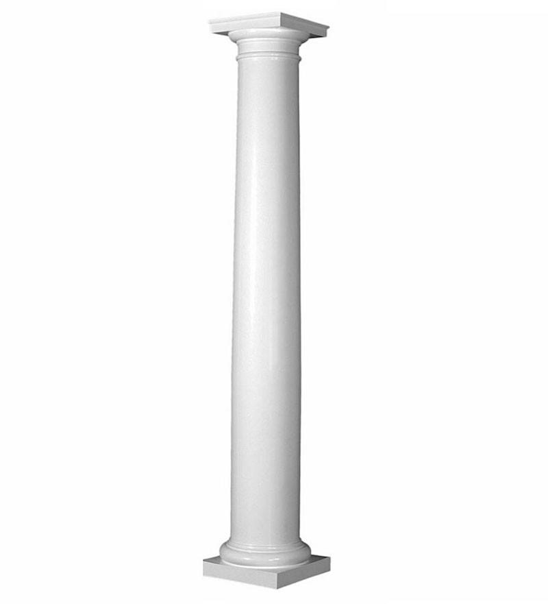 "8""  Round, Tapered, Smooth PermaCast Column"
