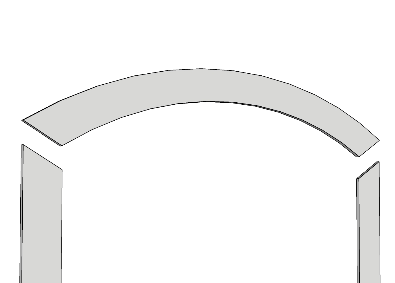 Arched PVC Window Trim