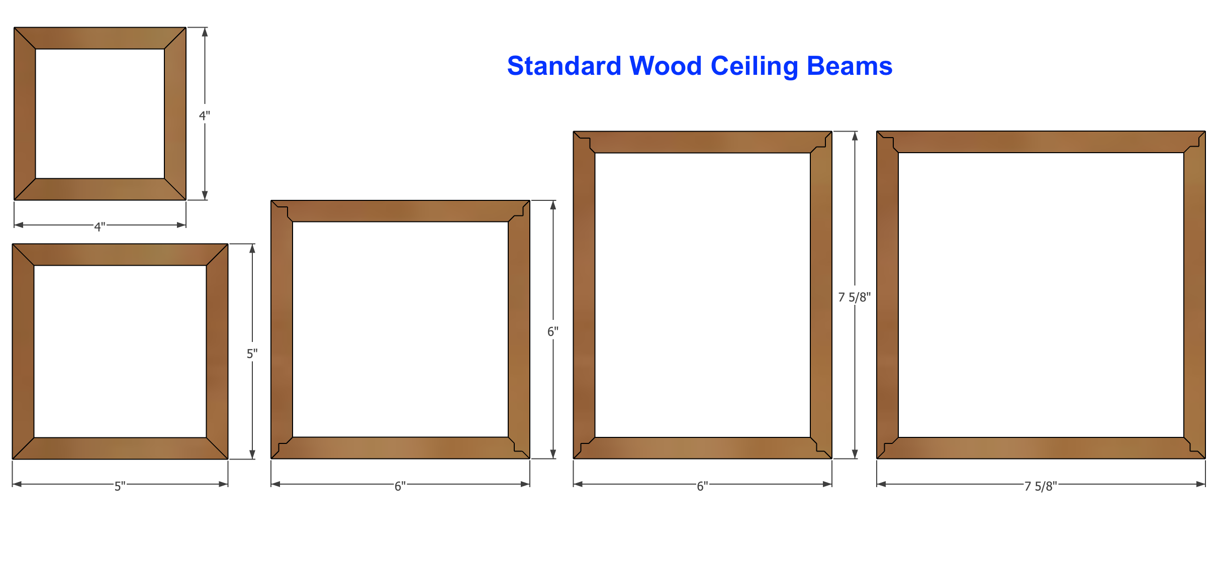 Smooth, Wood Ceiling Beam