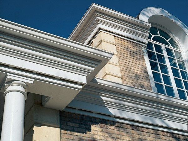 Architectural Commercial Exterior Decorative Trim : Cellular pvc moldings versatex trimboard
