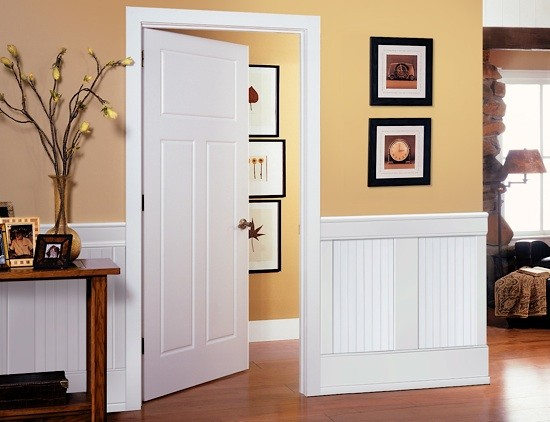 wainscoting hidden door with Beaded Panel Wainscot on Hidden Access Panel Transitional Boston additionally How To Install Picture Frame Moulding The Easiest Wainscoting Style Ever further Cottage Makeover Interiorexterior Progress as well Hidden Doors Secret Doors together with Reclaimed Wood For Your New Home.