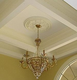 Ceiling medallions i elite trimworks for Decorative millwork accents