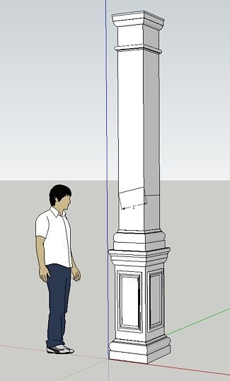 Square Column Trim : Craftsman column drawings i elite trimworks