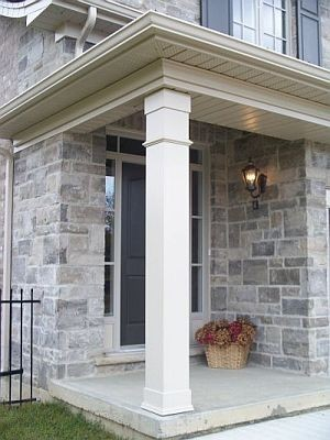 Non tapered pvc column gallery i elite trimworks for Wrap around porch columns