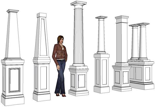 decorative pedestals columns crystal assortmentofpedestalsjpg pedestals elite trimworks